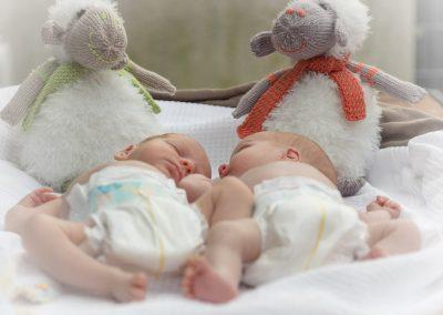 Newborn Shooting mit Kuscheltieren