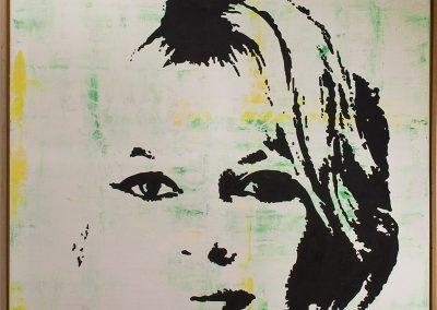 Brigitte Bardot | Öl auf Acryl auf Leinwand | 80 x 80 cm | 2007 by Andy Mock