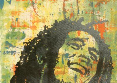 Bob Marley | Acryl auf MDF | 60 x 80 cm | 2003 by Andy Mock