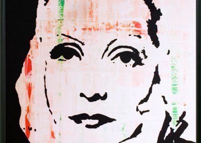 Greta Garbo | Öl auf Acryl auf Leinwand | 80 x 100 cm | 2007 by Andy Mock