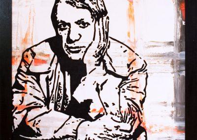 Man Rays Picasso | Öl auf Acryl auf MDF | 81 x 81 cm | 2008 by Andy Mock