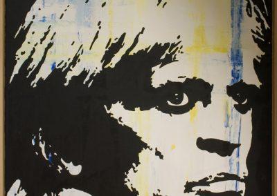 Klaus Kinski | Öl auf Acryl auf Leinwand | 80 x 100 cm | 2007 by Andy Mock