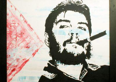 Che Guevera | Öl auf Acryl auf MDF | 82 x 70 cm | 2004 by Andy Mock