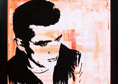 James Dean | Öl auf Acryl auf MDF | 77 x 71 cm | 2008 by Andy Mock
